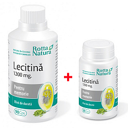 Pachet Lecitina 1200 mg. 90 cps + Lecitina 1200 mg. 30 cps