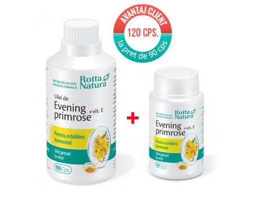 imagePachet Evening Primrose+Vit.E 120 cps. la pret de 90 cps.