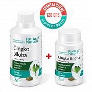 imagePachet Ginkgo Biloba Extr.60 mg. 120 cps la pret de 90 cps