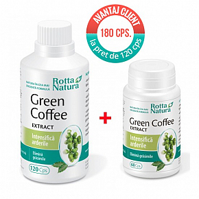 Pachet promotional Green Coffee Extract 180 cps. la pret de 120 cps.