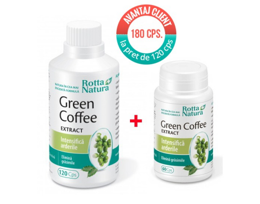 imagePachet promotional Green Coffee Extract 180 cps. la pret de 120 cps.