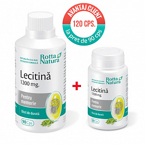 Promo pack Lechitin 120 cps. at the price of 90 cps.