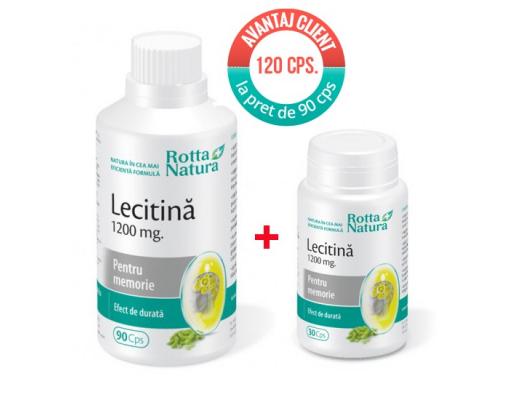 imagePachet Lecitina 1200 mg. 120 cps la pret de 90 cps