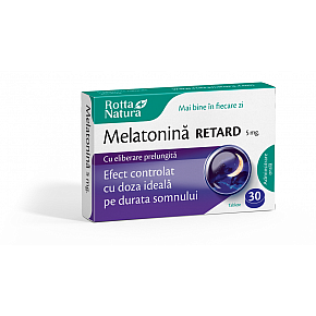 Melatonin Retard 5 mg. with prolonged effect throughout the sleep