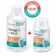 imagePachet Omega 3+Vit.E 120 cps. la pret de 90 cps.
