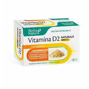 Vitamina D2 naturala 1000 U.I