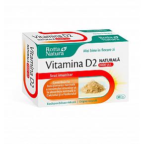 Vitamina D2 naturala 2000 U.I