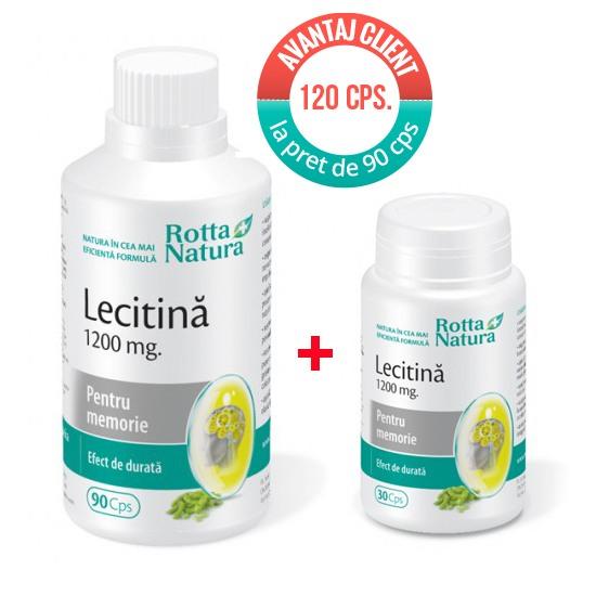 Pachet Lecitina 1200 mg. 120 cps la pret de 90 cps